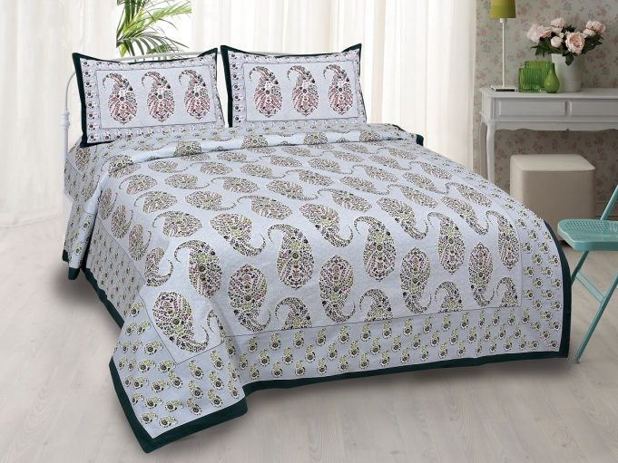 Beautiful-Seashell-Print-King-Size-Double-Bedsheet-with-2-Pillow-Covers-0ddce398