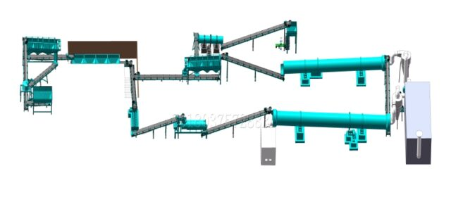 layout of setting small scale organic fertilizer granulating plant-a2ff3787